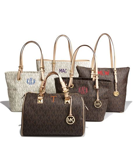 Grysons New Shoulder Bag Version Of The Beautiful Handbag by Michael Michael Kors Logo Print Signature Monogram Tote