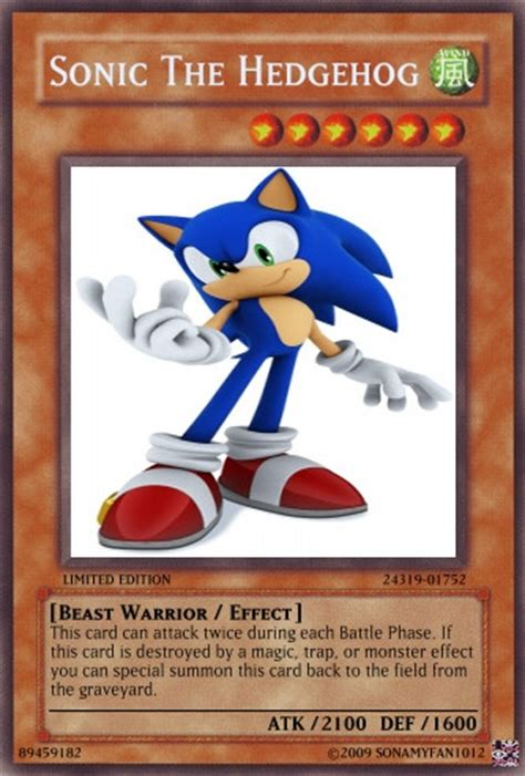 Where Can You Buy A Sonic Gift Card - sonic the hedgehog yugioh card by sonamyfan1012 on deviantart