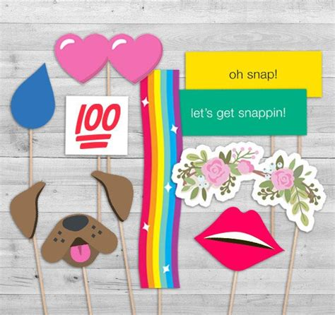 printable photo booth props snapchat social media party photo booth props photo by