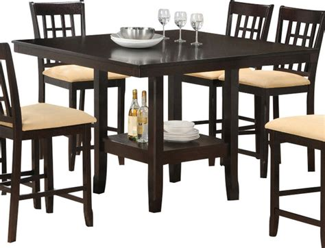 Hillsdale Tabacon 50x50 Counter Height Table With Wine Dining Table With Wine Storage
