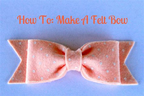 How To Make Handmade Hair Bows - 25 best ideas about felt bow tutorial on diy