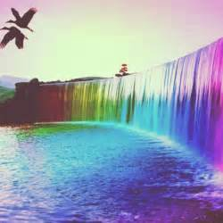 colorful waterfall waterfall colorful graphics pics