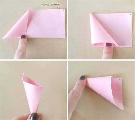 How To Fold Paper Into A Cone - steps how to make a paper cone