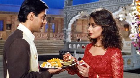 hum apke he kon song salman khan madhuri dixit s cult hum apke hain koun clocks 21 years the indian express