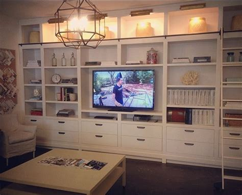 inspiration tv bookshelf built in the lovely lifestyle