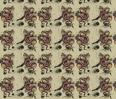 tattoo pattern fabric dragon tattoo fabric cynetik spoonflower