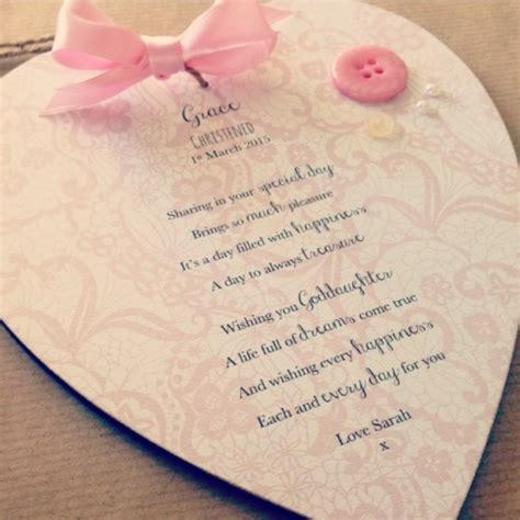Wedding Wishes Goddaughter by Godson Goddaughter Personalised With Poem
