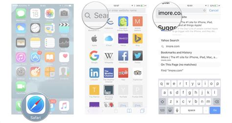how to use the smart search bar in safari on iphone and