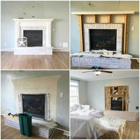 Fireplace Demolition by How To Install A Marble Herringbone Fireplace Surround And
