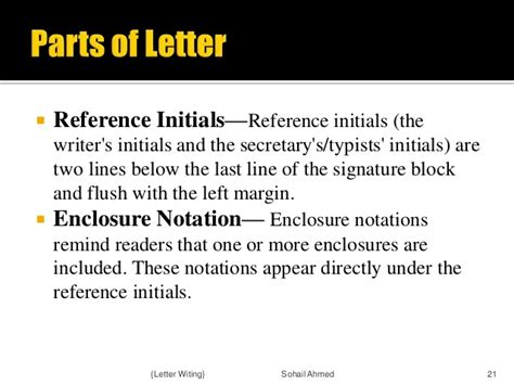 Reference Notation Business Letter letter writing by sohail ahmed