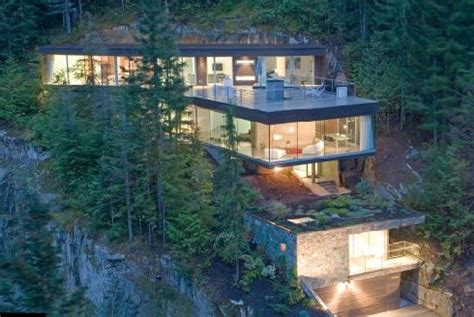House Design Inside Simple mountain chalet is built into the mountain for a