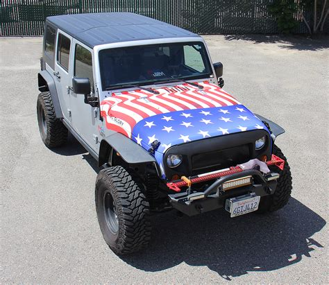american flag jeep american flag jeep hood wrap visual horizons custom signs