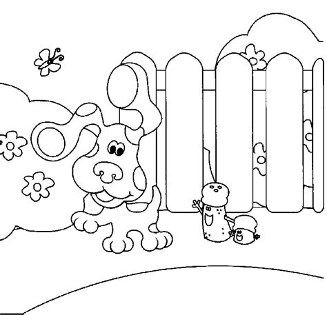 nick jr blue s clues coloring pages blues clues coloring sheets coloring home