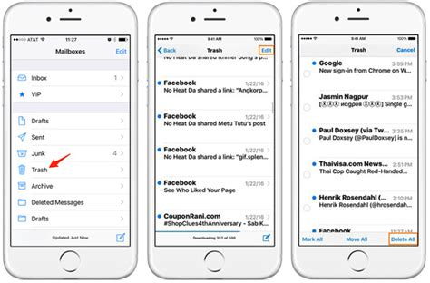 yahoo email going to trash iphone how to empty trash on iphone 6 5 4 mail photos notes