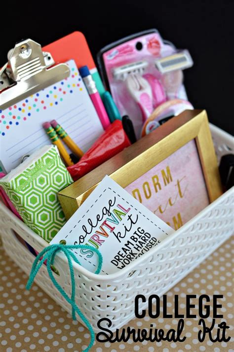 school gift ideas college survival kit with printables back to school