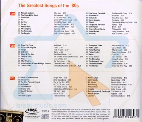 80s songs the greatest songs of the 80s israel