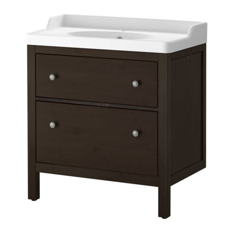 ikea bathroom sink cabinet hemnes r 196 ttviken sink cabinet with 2 drawers black brown stain ikea