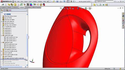tutorial solidworks bottle dsid136 tide detergent bottle part 4 solidworks