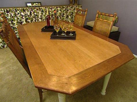 how to make a dining room table how to build an octagon dining table hgtv