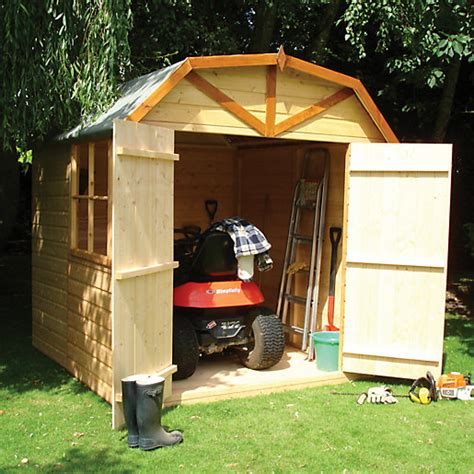 Shed Roof Felt Paint by Wickes Barn Curved Roof Door Garden Shed 7 X 7