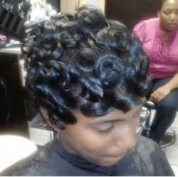 how to do pin curls on black s hair pin curls short pixie vixen pinterest
