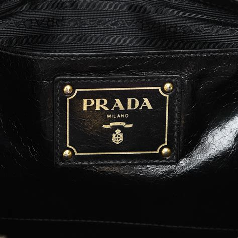 Prada Bn251 Vitello Shine Black Nero prada vitello shine tote nero black 211548