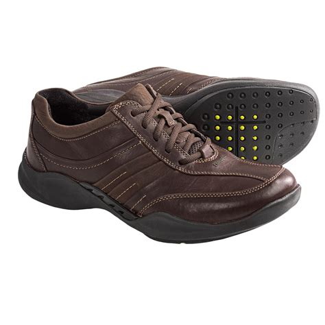 clarks wave tract shoes leather lace ups for