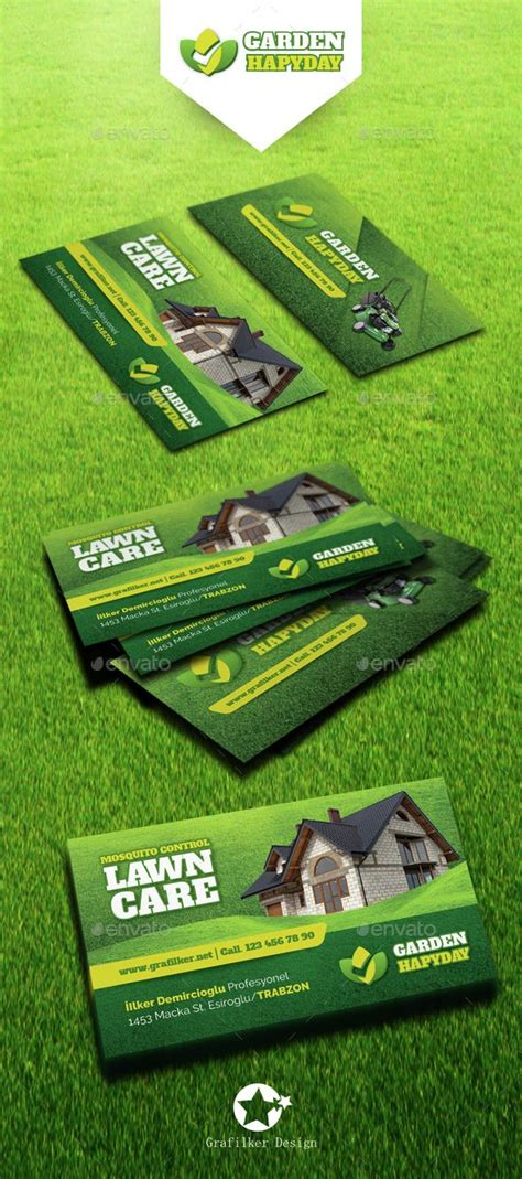 graphicriver lawn service business card template 17 best images about mata landscaping on metal