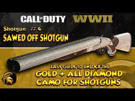 call of duty 4 gold shotgun call of duty ww2 gold diamond camo 4 sawed off