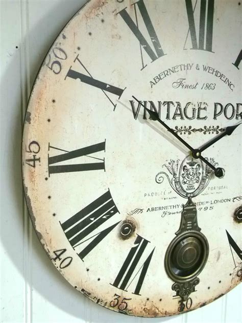 large antique vintage style wall clock modern home antique vintage style extra large shabby chic wall clock
