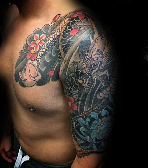 japanese half sleeve tattoo 100 chrysanthemum designs for flower ink ideas
