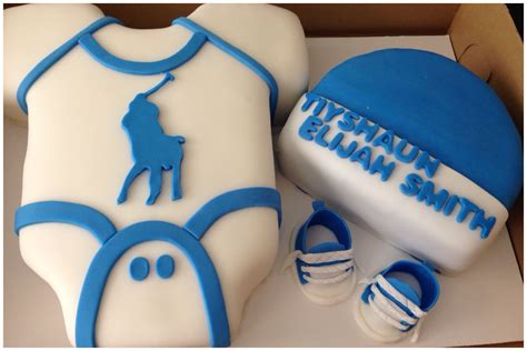 Polo Baby Shower by Polo Onesie Baby Shower Cake Sweet Dlightz
