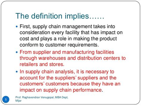 Ms Supply Chain Management Vs Mba by Supply Chain Management Vtu Module 1