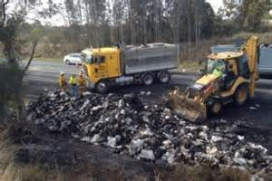 Truck Tires Kempsey Pacific Highway Traffic Disrupted By Truck Near