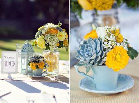 light blue and yellow wedding sooti inspiration aqua blue yellow wedding
