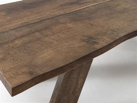 tavoli rustici in legno tavolo rustico lineare in legno massiccio idfdesign