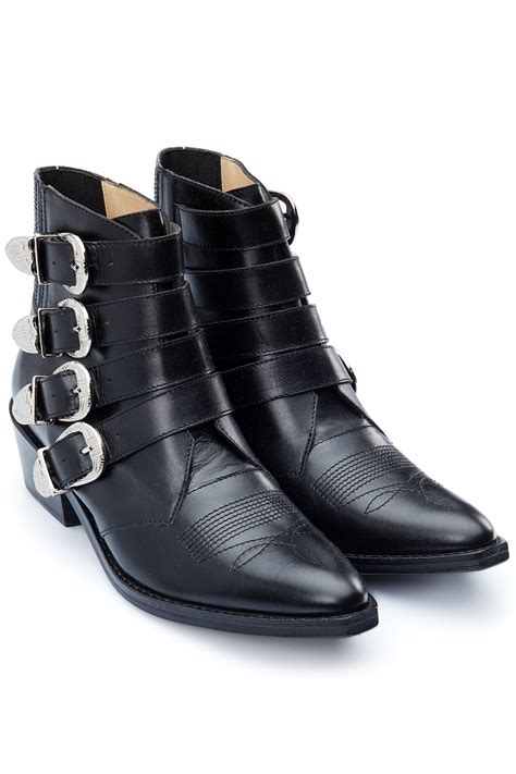 buckle ankle boots toga pulla multi buckle ankle boots black 365ist
