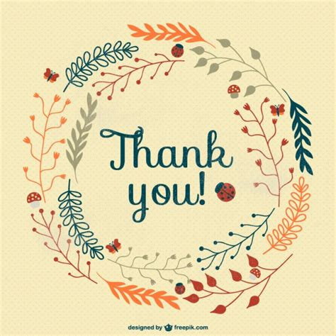 Thank You Card Downloads Vintage Thank You Card Vector Free