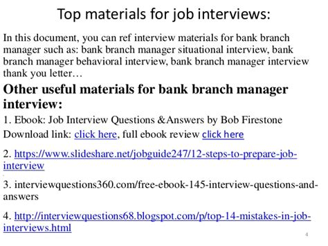 top 10 bank branch manager questions and answers