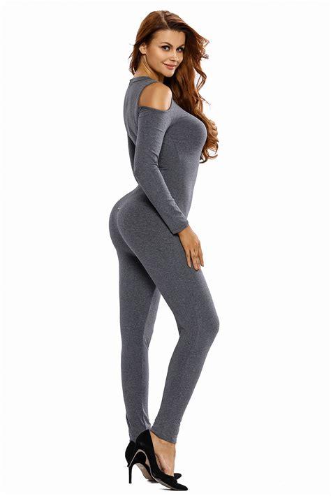 Shoulder Sleeve Jumpsuit cold shoulder sleeves jumpsuit