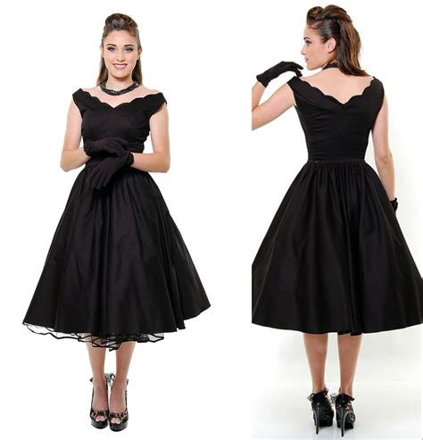 plus swing dress new year 2015 unique vintage 1950s style black first date