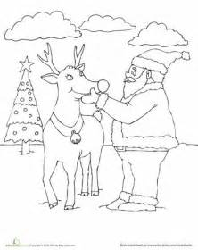 rudolph  red nosed reindeer coloring page coloring
