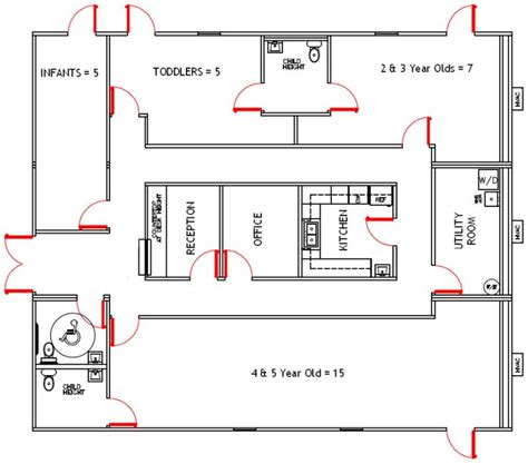 child care center floor plans 40 best images about preschool blueprints on