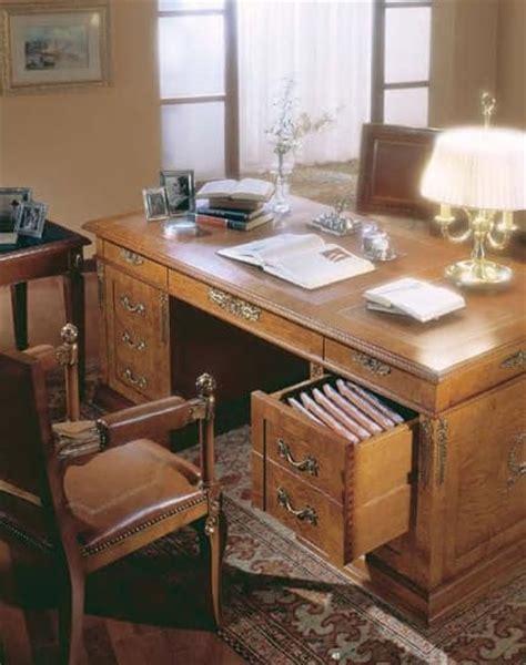 scrivanie di lusso scrivania classica in radica di frassino per ufficio di