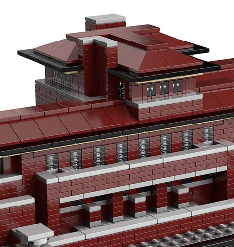 lego robie house frank lloyd wright s famous robie house gets lego treatment technabob