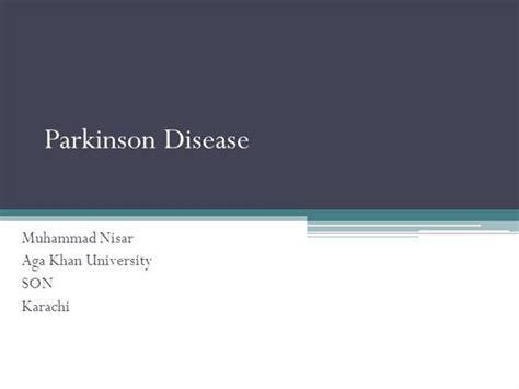 Parkinson Disease Authorstream Parkinson S Disease Powerpoint Template