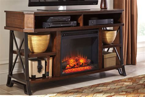 Media Stand With Fireplace by Vinasville Media Stand With Electric Fireplace
