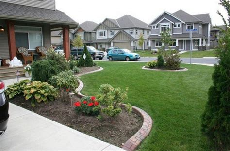 home yard front yard landscaping ideas easy to accomplish