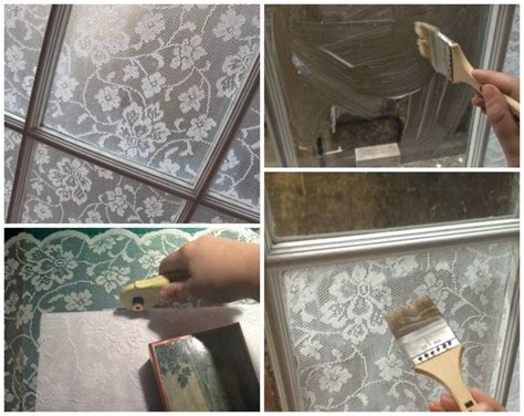 Fenster Sichtschutz Basteln by Diy Lace Window Treatment With Cornflour Creative Ideas
