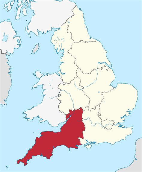 south and west from south west england map